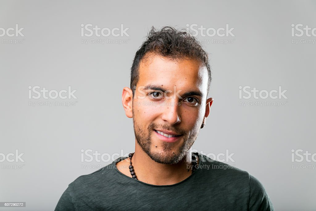 real people is better: portrait of a young man stock photo