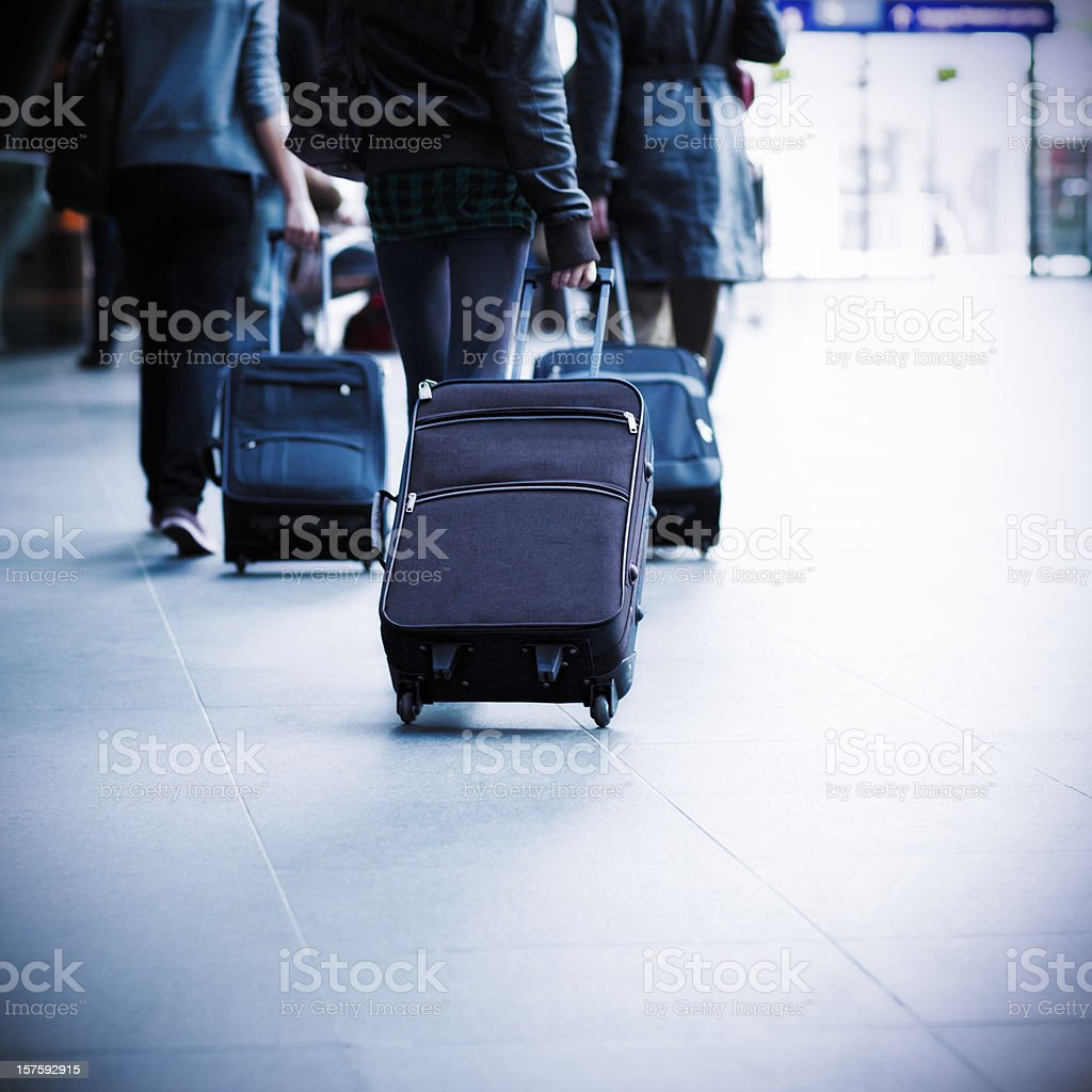 Real people on the move royalty-free stock photo