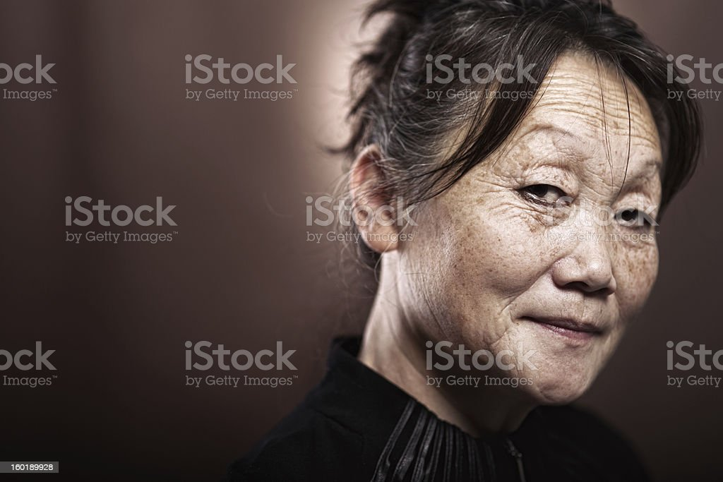 Portrait of a 60 year old asian female