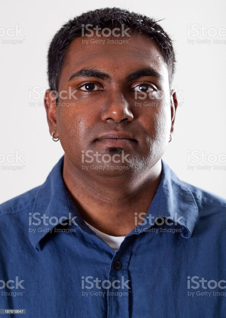 Real People Portrait: Plain, Young Indian American Man royalty-free stock photo