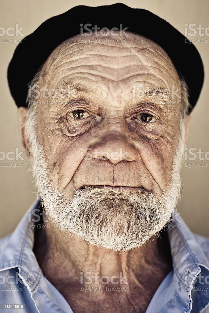 Real People: Serious Senior Man Portrait stock photo