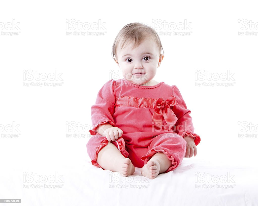 Real People: Smiling Caucasian Baby Girl Full Length royalty-free stock photo