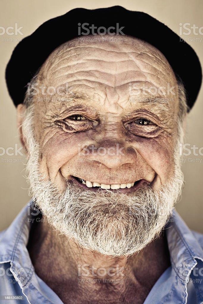 Happy smiling senior man. Portrait.