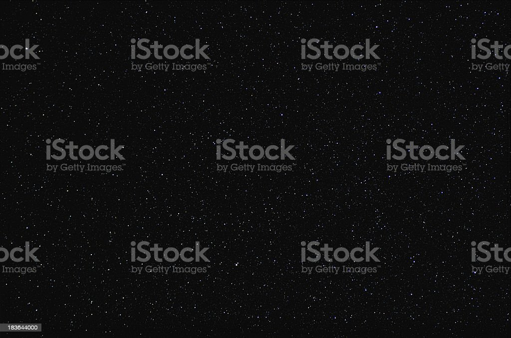 Real photograph of stars in the night sky. royalty-free stock photo