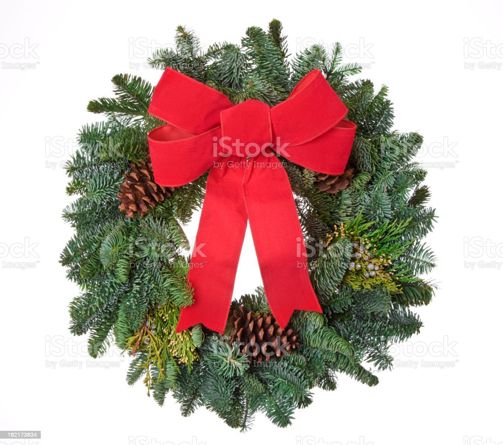 Real Pine Wreath stock photo