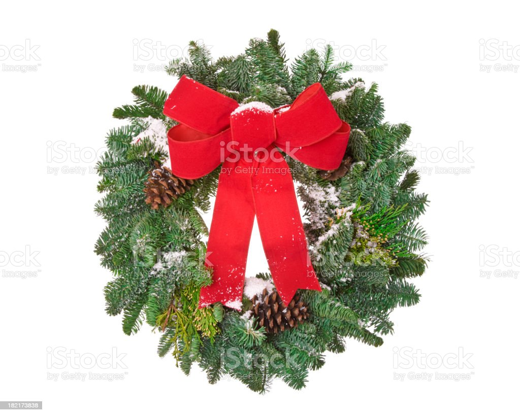 Real Pine Wreath royalty-free stock photo