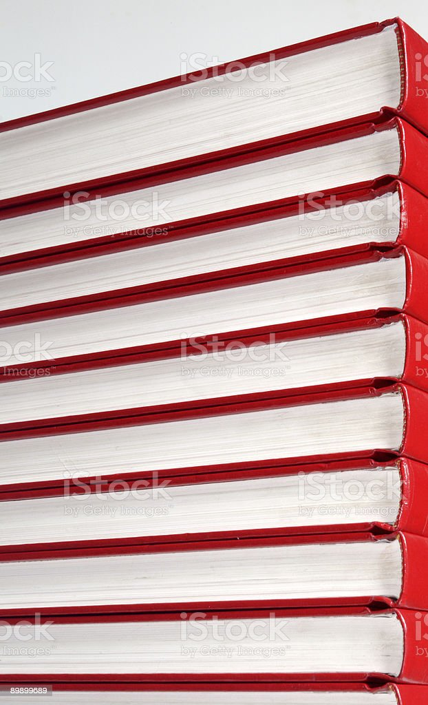 Real Red Books royalty-free stock photo