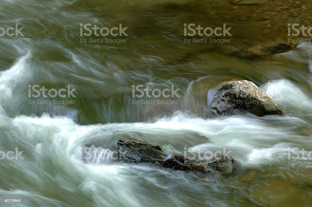 Real River Flow with Rocks royalty-free stock photo