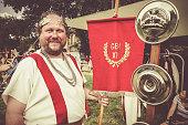 Real Roman Senatus character during parade