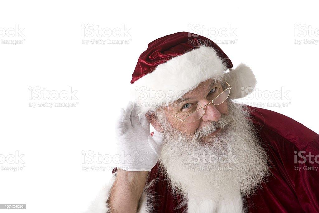 Real Santa Claus Listening stock photo