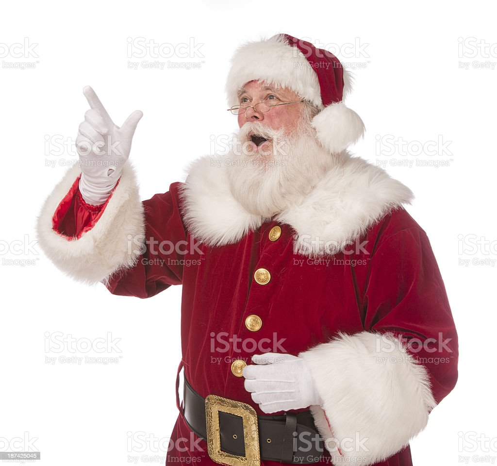 Real Santa Claus royalty-free stock photo