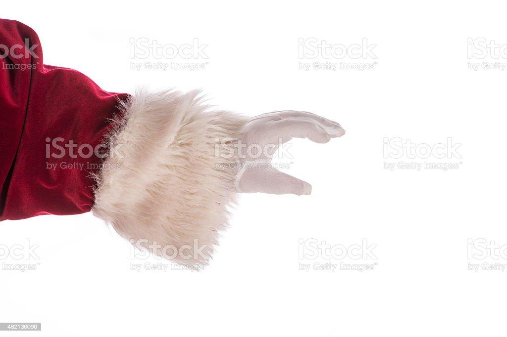 Real Santa Claus Santa Gloved Hand stock photo