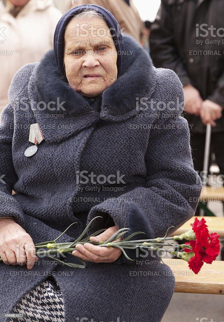 Real Senior Woman royalty-free stock photo