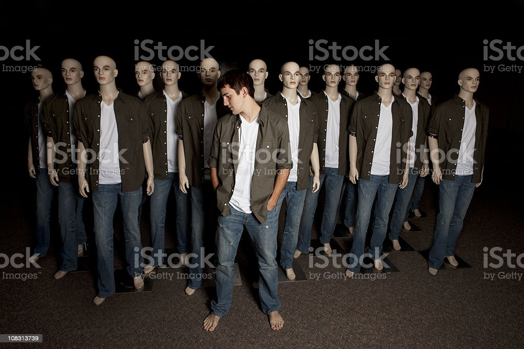 Real - Standing Out In A Crowd stock photo