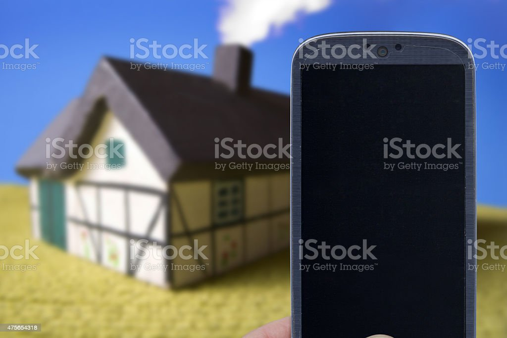 Real state application stock photo