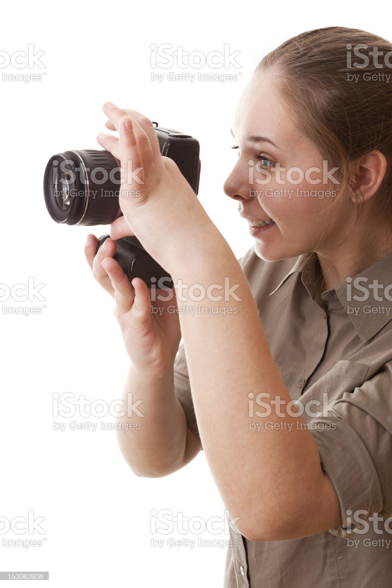 Real teenager girl, Photographer royalty-free stock photo