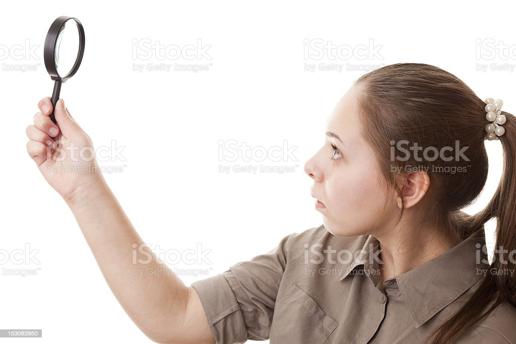 Real teenager girl stock photo