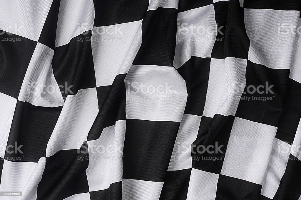 Real waving checkered flag royalty-free stock photo