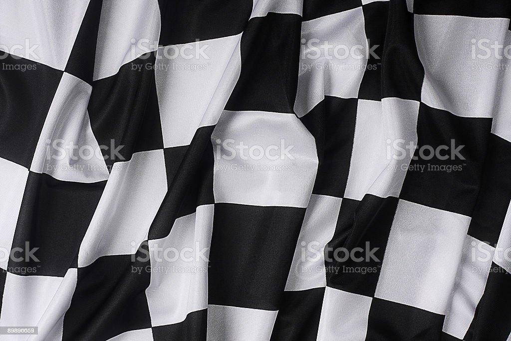 Real waving checkered flag stock photo