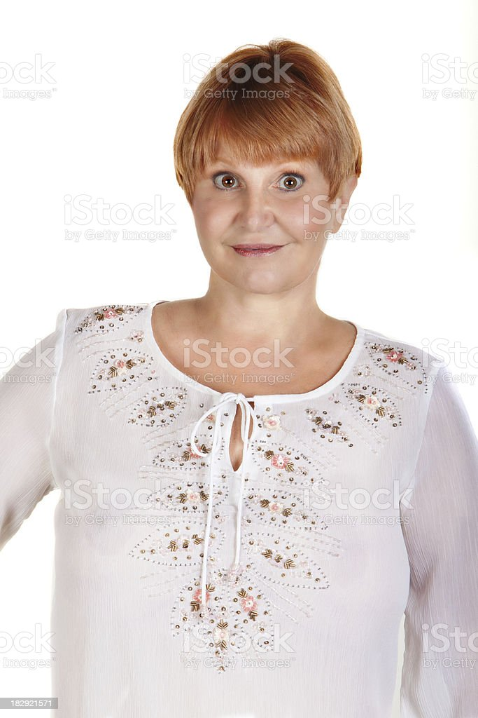 Real woman headshot royalty-free stock photo