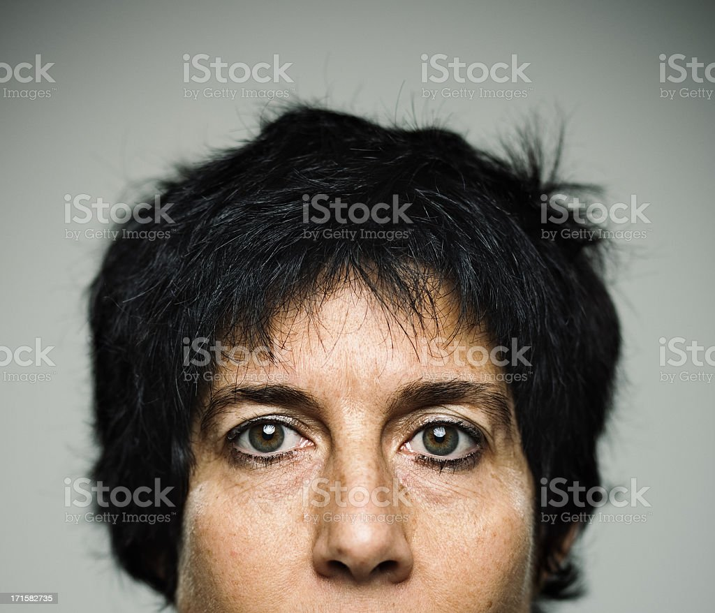 Real woman stock photo