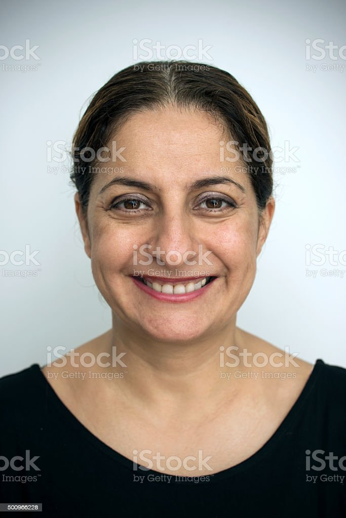 Real Woman Smiling stock photo
