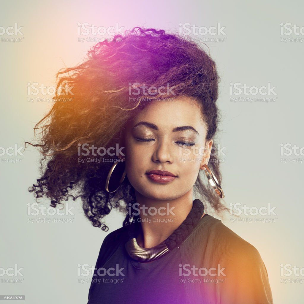 Real women rock their real hair stock photo