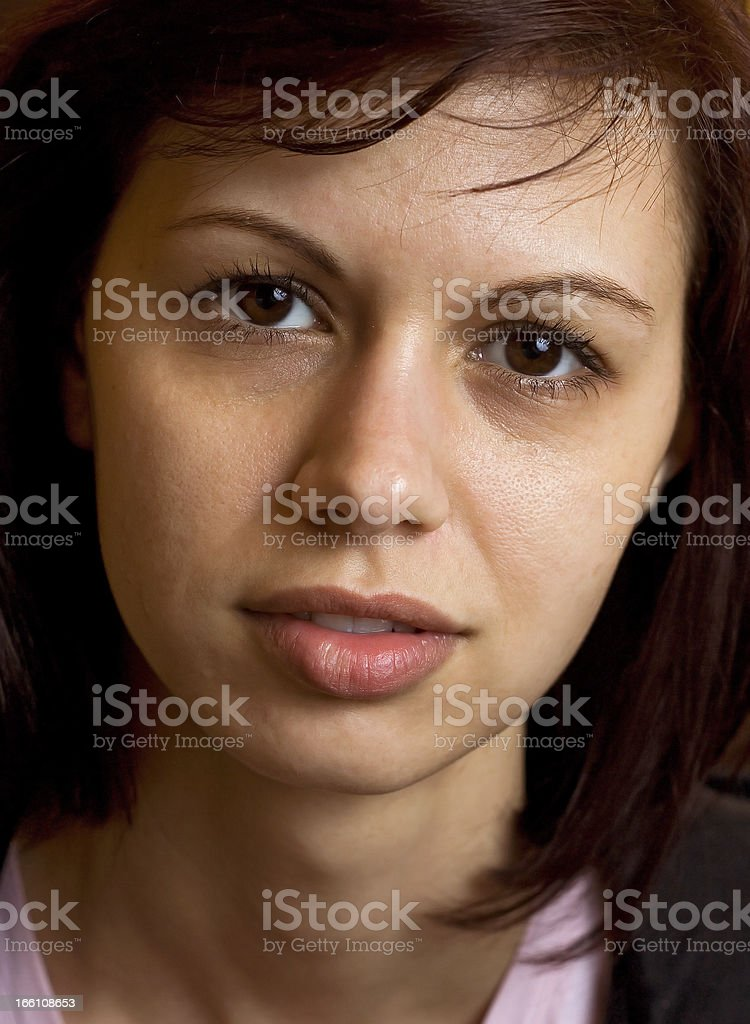 Real women's face royalty-free stock photo