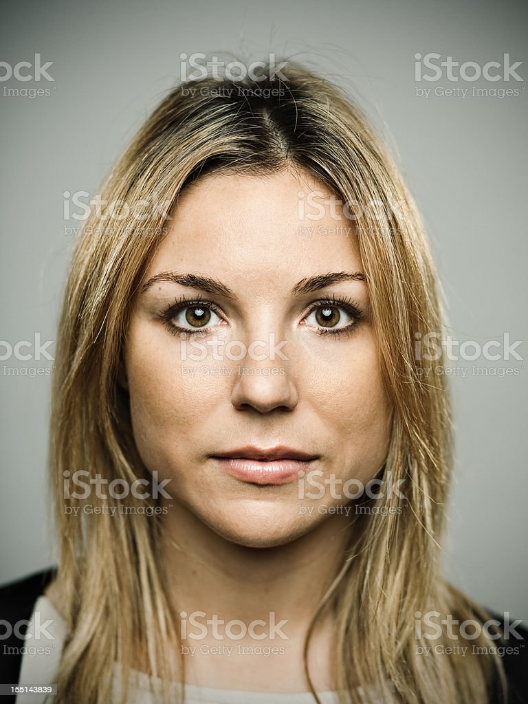 Real young girl stock photo