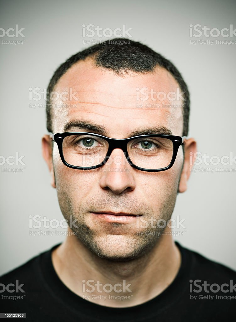 Real young man. stock photo