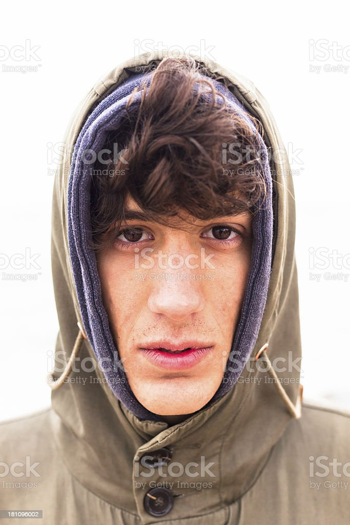 Real Young Man Portrait royalty-free stock photo