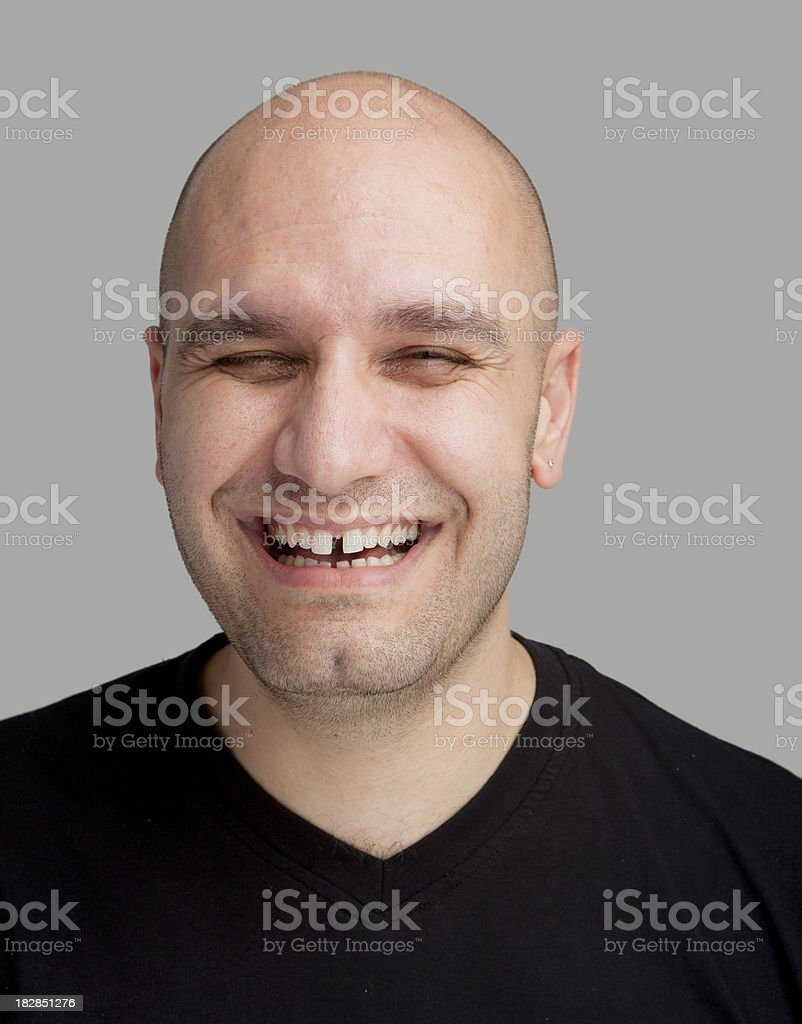 Real young man smiling royalty-free stock photo