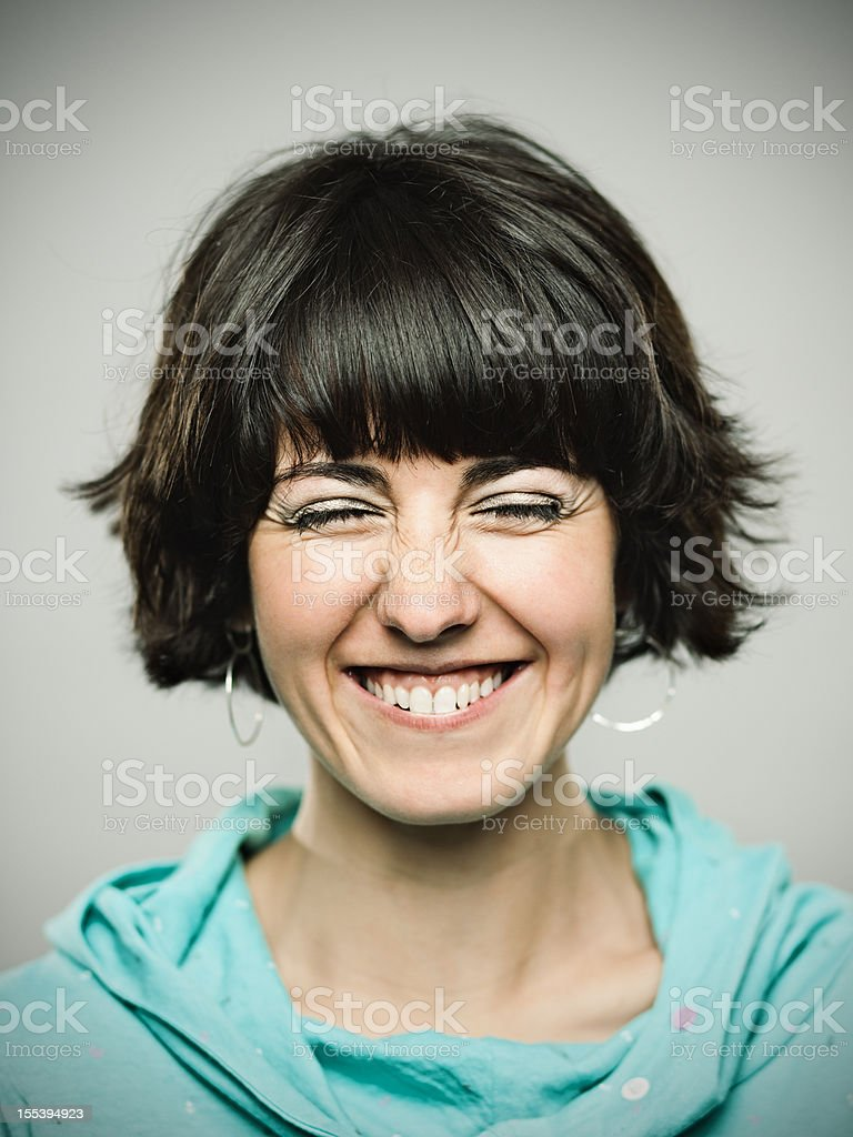 Real young woman. stock photo