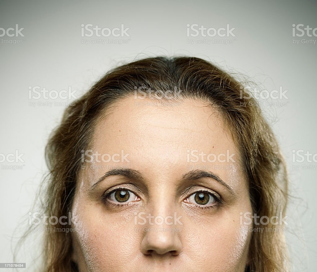 Real young woman royalty-free stock photo