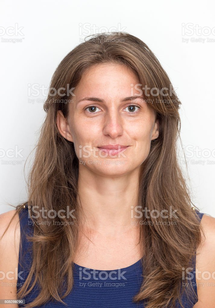 Real Young Woman Smiling stock photo