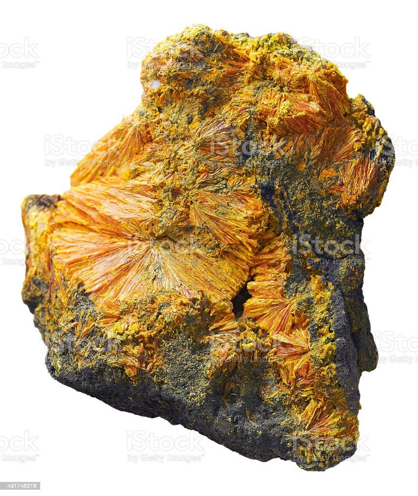 Realgar natural mineral stock photo