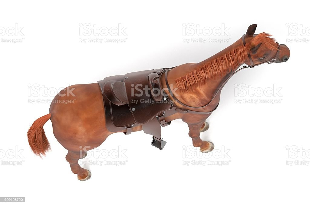 realistic 3d render of horse vector art illustration