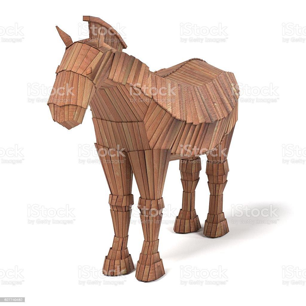 realistic 3d render of trojan horse stock photo