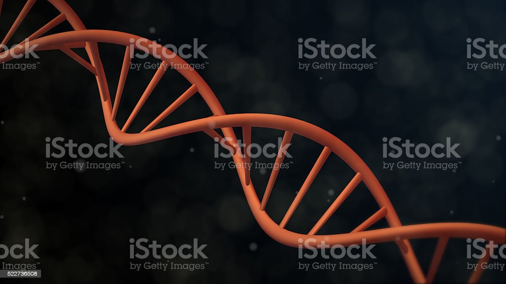 realistic DNA Double Helix over Dark Background, stock photo