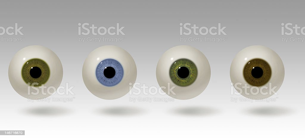 Realistic eyeball illustration stock photo