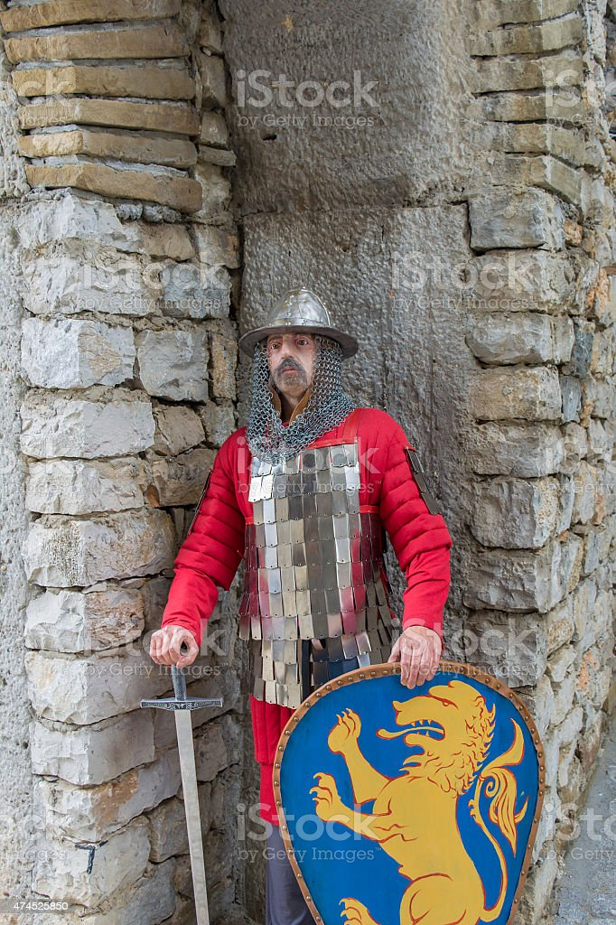 Realistic Fortress Guardian Dummy stock photo