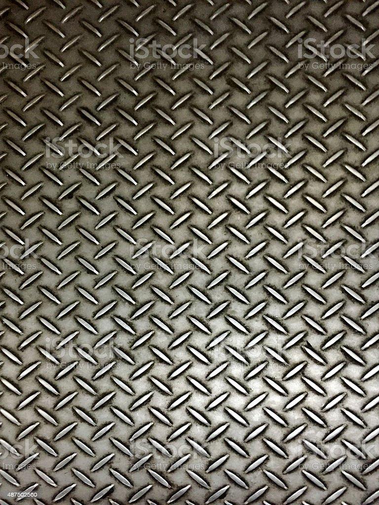 Realistic metal plate floor stock photo