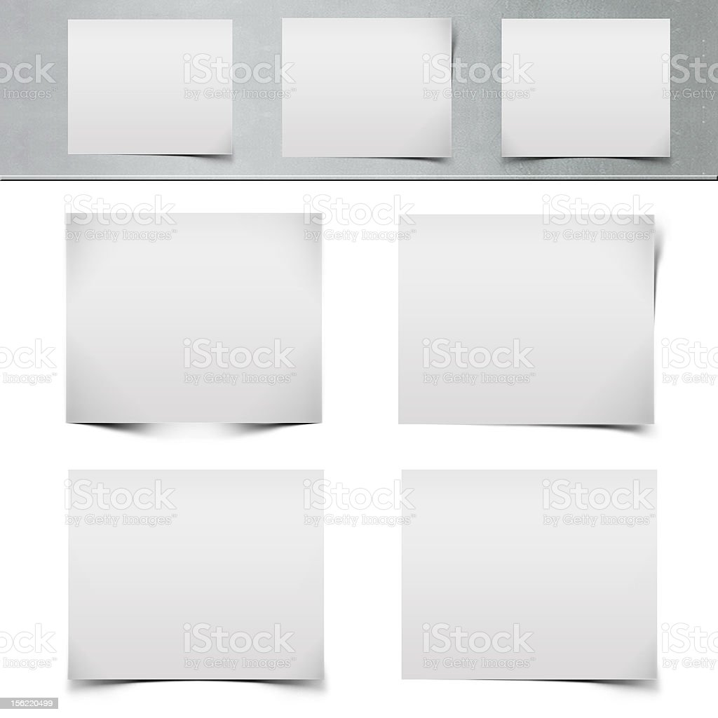Realistic multiple curled page corners stock photo