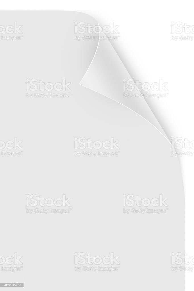 Realistic Page Curl stock photo