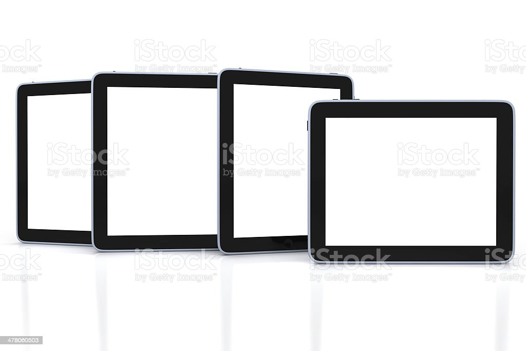 Realistic tablet pc computer isolated on white background royalty-free stock photo