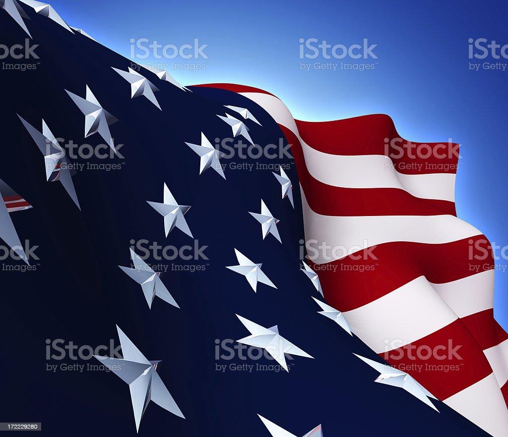 Realistic USA Flag(XL) royalty-free stock photo