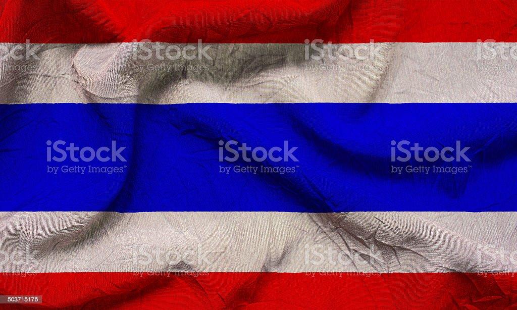 Realistic wavy flag of Thailand. stock photo