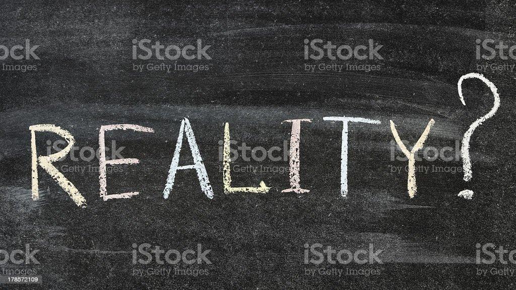 reality? royalty-free stock photo