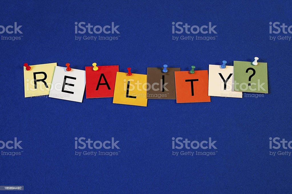 Reality ...? TV, Gameshow, Documentary, Truth? royalty-free stock photo