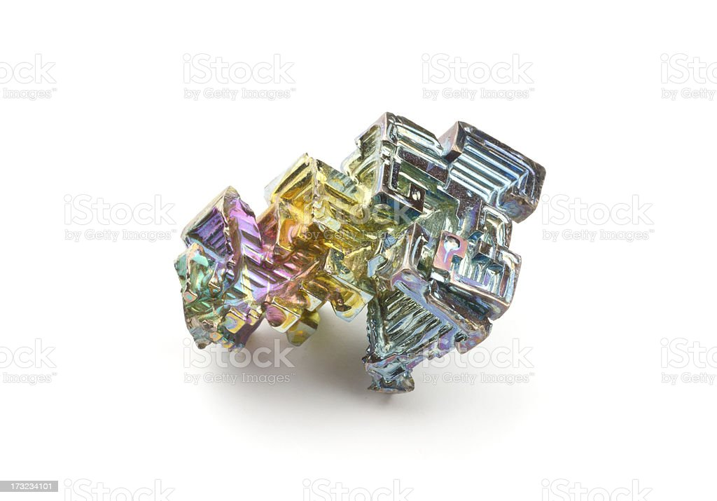 Really and pure chemical Elements - here shown Bismuth Bi stock photo